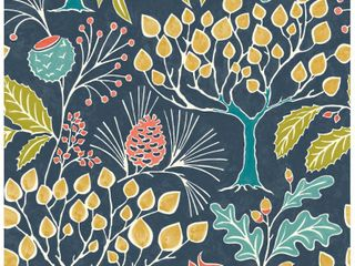 NuWallpaper Groovy Garden Peel   Stick Wallpaper Navy