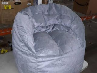 Big Joe Gray Bean Bag Chair