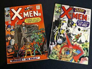 Mavel X Men Comic Books  2  Vol 1  No  22 and No