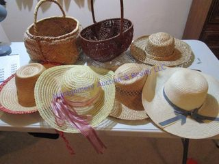 WICKER BASKETS STRAW HATS