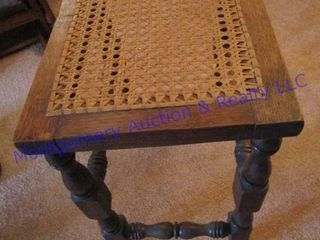 CANE TOPPED BENCH