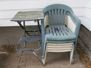YARD CHAIRS AND TABlES