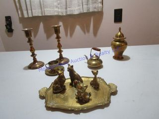 ASSORTED BRASS ITEMS