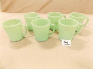Jadeite Cups  6  same marking