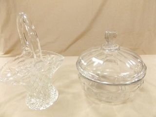 Glass Bowl with lid  Glass Basket