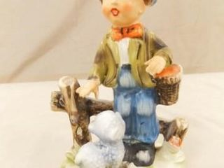 Boy   Dog Figurine  Rossini Japan  51 2