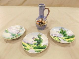 Vase  Plates  3    made in Japan