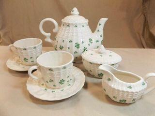 2003 Roman Shamrock Tea Set  7