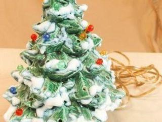 Ceramic lighted Christmas Tree  71 2