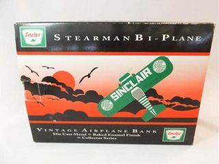 1993 Sinclair Metal Airplane Bank