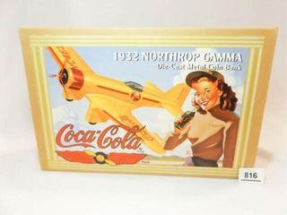 1995 Coca Cola Northrop Metal Airplane Bank