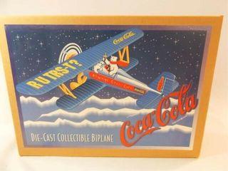 1997 Coca Cola Metal Biplane Bank