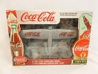 Coca Cola Metal 1927 Airplane Bank