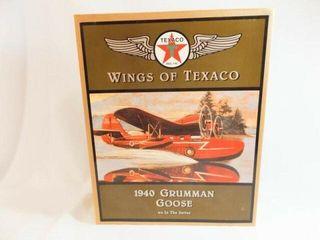 1996 Texaco Grumman Metal Airplane Bank