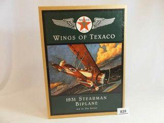 1995 Texaco Metal Stearman Biplane Bank