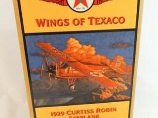 1998 Texaco Metal Robin Airplane Bank