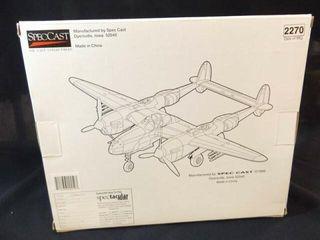 1999 Spec Cast lightning Metal Airplane