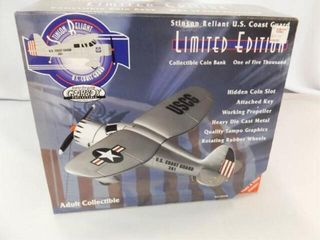 Gearbox USCG Metal Airplane Bank