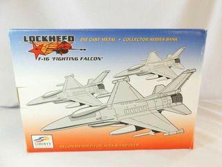 1994 Spec Cast Navy F 16 Metal Bank