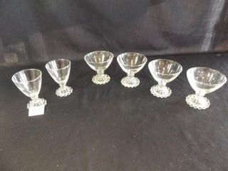 Clear Glass Glasses   2 sizes  6