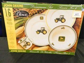 John Deere Dinnerware Set for  4