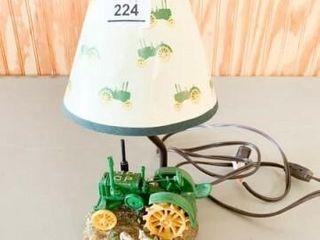 John Deere lamp  Ceramic Tractor
