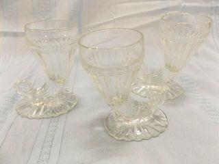 Glass Cornucopia Candle Holders  5   3