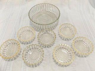 Glass Bowl  Fruit Bowls  7  Ribbed