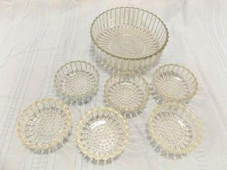Glass Bowl  Fruit Bowls  6  Ribbed