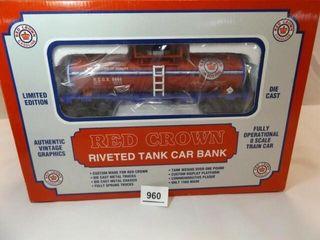 Red Crown Gasoline Tank Car Bank