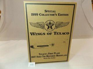 1999 Texaco Ford Monoplane Metal Bank