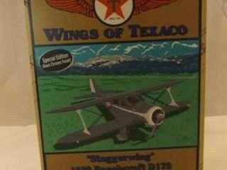 2004 Texaco Staggerwing Metal Bank Airplane
