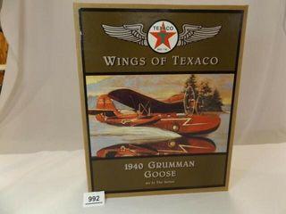 1996 Texaco Grumman Metal Bank Airplane