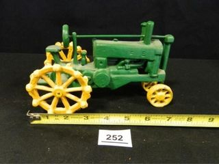 Cast Iron Tractor  Green Yellow