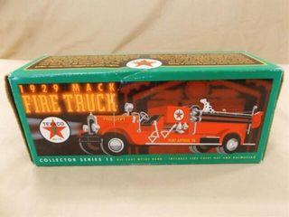 1998 Texaco Mack Fire Truck Metal Bank