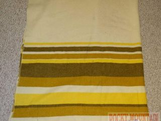 Vintage Wool Blanket W/ Stripes. 106