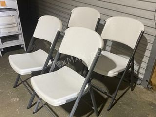 (4) LIFETIME Commercial Grade Folding Chairs