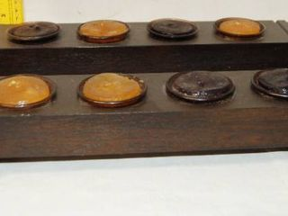 Pair of Votive Candle Wood Decor holders   wow