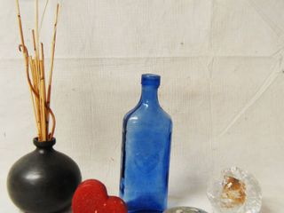 Beautiful Blue Glass Vase and Other Nice Mic  lot   see Photos