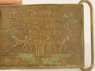 Vintage levi s Strauss Belt Buckle   Highly Collectible