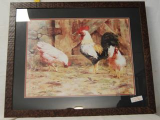 lARGE Rooster Picture   Great for a Farm Themed Kitchen