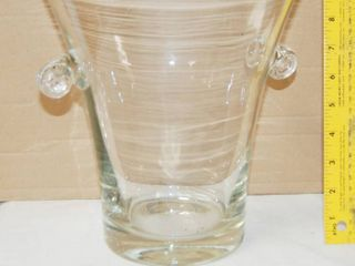 10  Tall Clear Vase  Very Pretty  Could Put Your Extra Christmas Bulbs In for Decoration