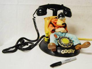 Vintage DISNEY Goofy Telephone   Telemania Segan Products HTF