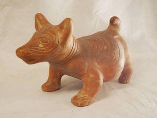 Mexico Terra Cotta Clay Art   Cute Dog