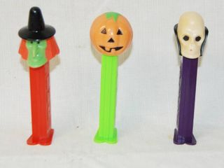 lot of 3 PEZ Halloween Candy Dispensers