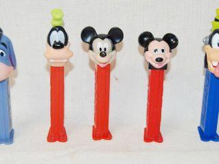 lot of 5 Disney PEZ Candy Dispensers