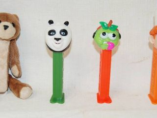lot of 4 Various PEZ Candy Dispensers