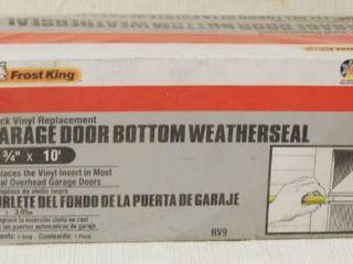 Garage Door Bottom Weather Seal  2 3 4  x 10    Still In Original Package