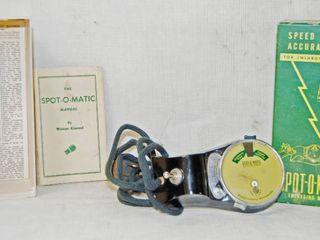 Vintage SPOT O MATIC Enlarging Meter  For Enlarging Pictures   w  Original Box