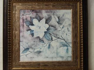 Flower Wall Picture  Measures little larger than 2ft x 2ft   NICE FRAME